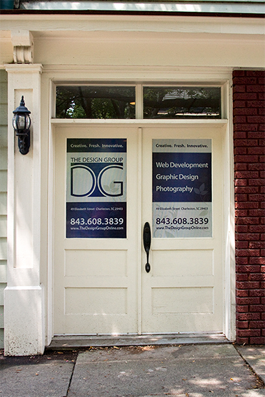 The Design Group office signs - Downtown Charleston