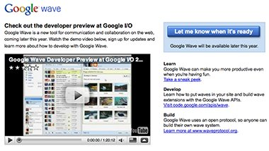 Google Wave image from the google wave website