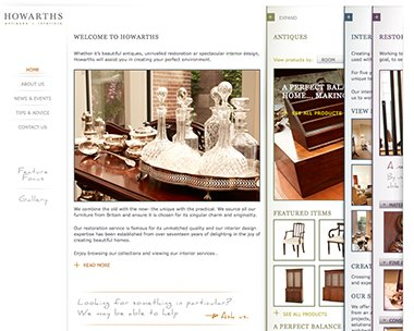 The Webutante - May featured website - Howarths