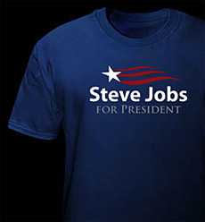 Apple CEO Steve Jobs for President T-Shirt